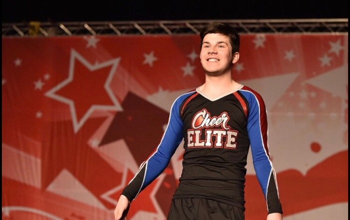 Dylan Robinson competes in cheer, a sport he is passionate about.